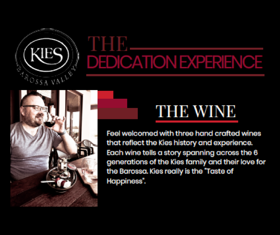 The Dedication Experience Kies Family Wines Monkey Nut Cafe